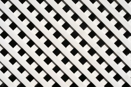 Photo for White lattice fence pattern - Royalty Free Image