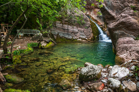 Fragment of little waterfall in Montenegro.