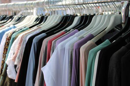 Photo pour cotton clothes hanging outside a shop - image libre de droit