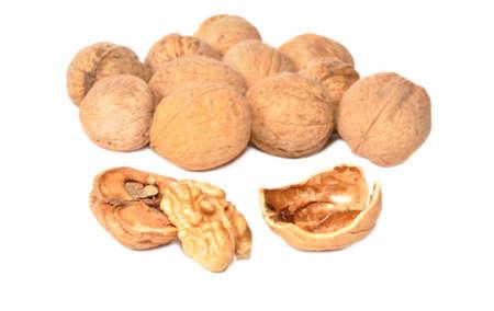 Heap of walnuts in a shell
