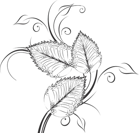 leaf decoration design elements