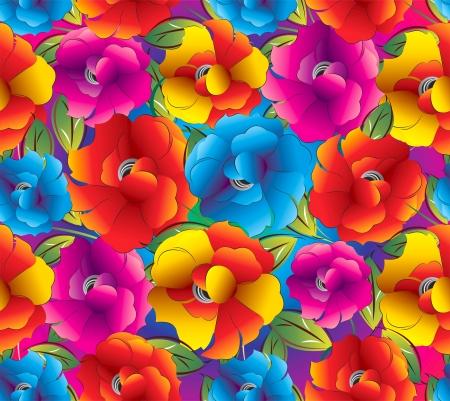 Seamless background of fancy flowers