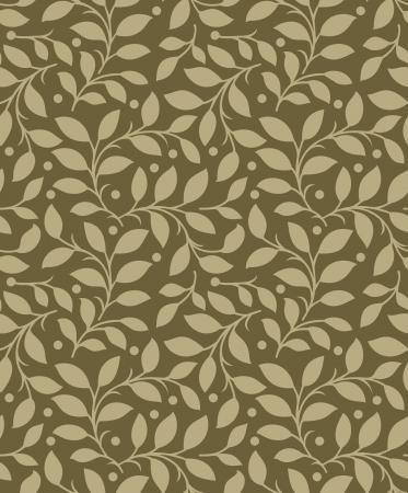 Illustration pour Seamless background of leaves - image libre de droit