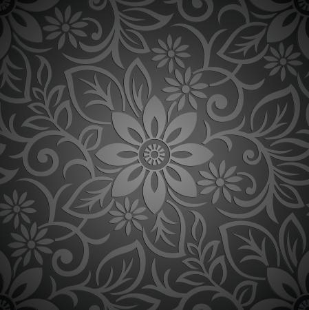 Foto de Seamless royal vector floral wallpaper - Imagen libre de derechos