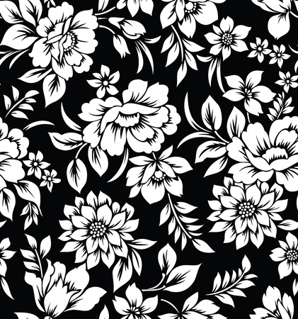Decorative seamless floral wallpaper