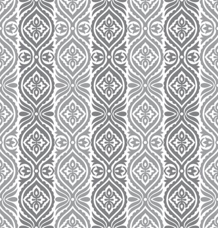 Foto de Seamless silver vertical vector floral wallpaper - Imagen libre de derechos