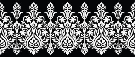 Illustration pour Seamless floral vector border for lace - image libre de droit