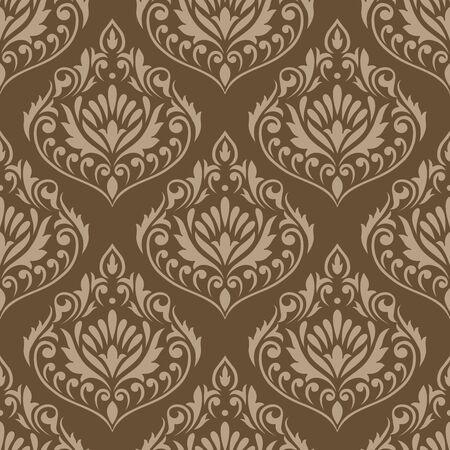 Illustration pour Seamless vintage damask vector wallpaper - image libre de droit