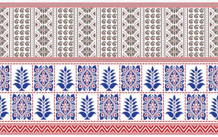 Illustration pour Seamless traditional Asian border design on white background - image libre de droit