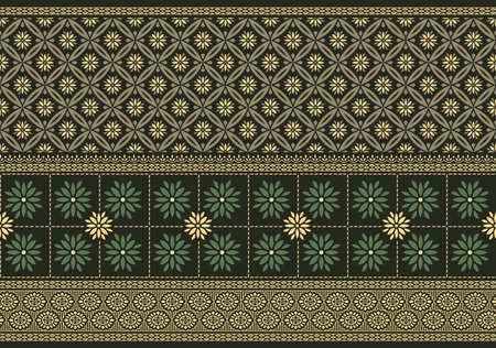 Illustration pour Vector damask floral border design - image libre de droit