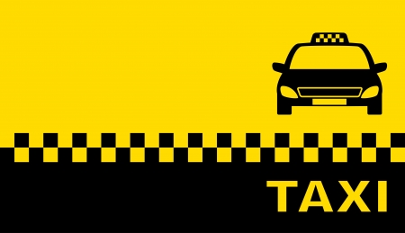 business card with taxi and place for text