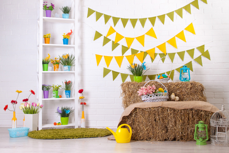 Photo for The room with Easter motifs. - Royalty Free Image