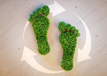 Photo pour Green footprint concept - image libre de droit