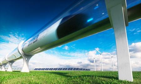 Photo pour Modern technologies in transport and energy. 3d rendering. - image libre de droit