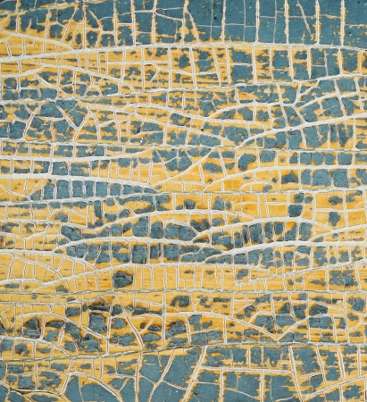 Yellow painted weathered  texture.