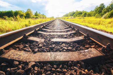 Photo pour Railway tracks - image libre de droit