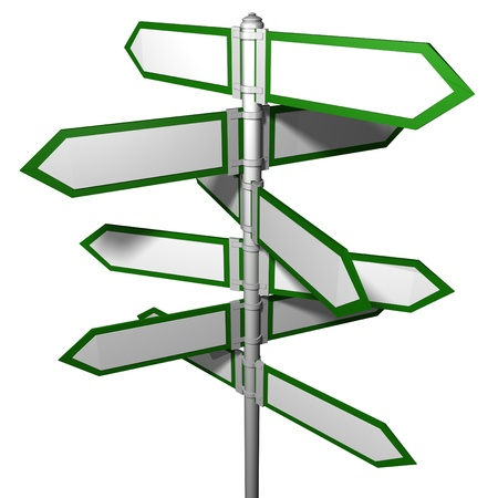 Blank signpost(Precise clipping path included for easy background change)