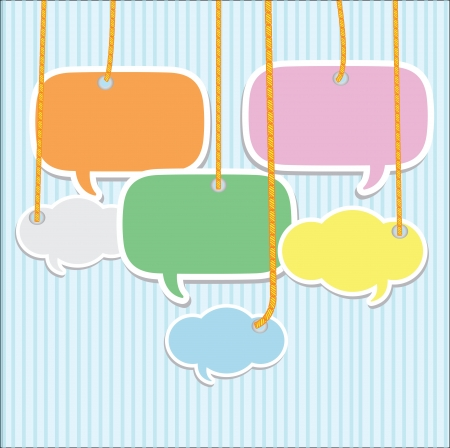 Illustration for Bubbles talk,Vector - Royalty Free Image