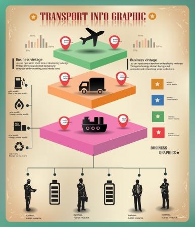 Foto de Transport,logistics ,business info graphics,vector  - Imagen libre de derechos