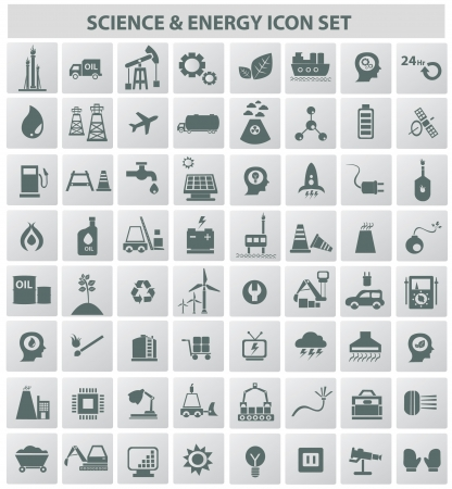 Industrial,energy,b uilding and natural icon set,vector