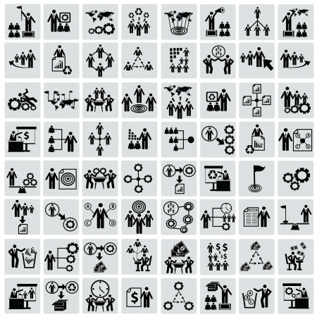 Business,Human resource,icon set,Vector