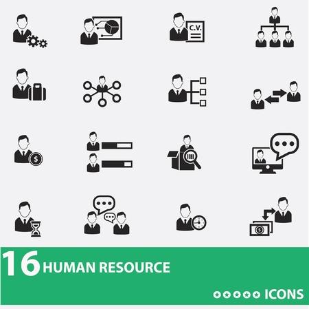 Business man,human resource icons