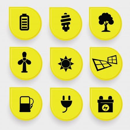 Ecology Energy icons