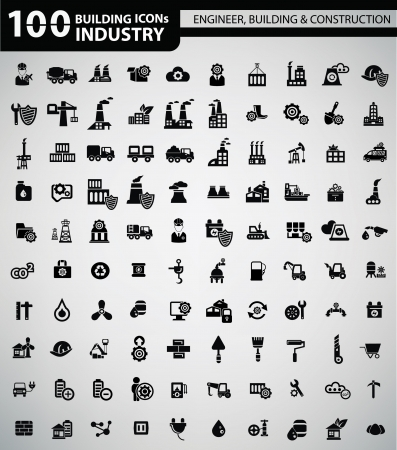 Industry, Building, Construction   Engineering icons