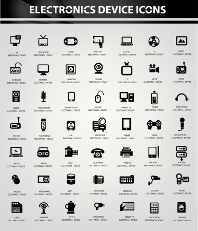 Electronics icon set,vector