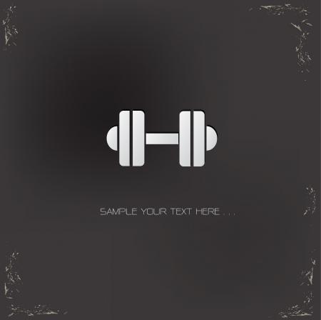 Ilustración de Fitness symbol - Imagen libre de derechos