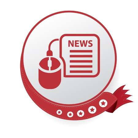 Online news symbol