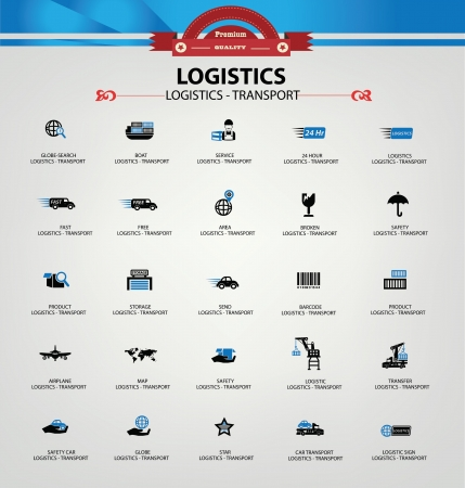 Photo for Logistics and transport icons,Blue version,vector - Royalty Free Image