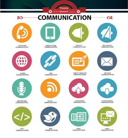 Communication icons,vector
