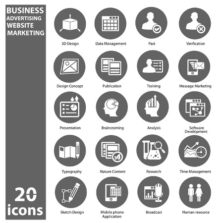 Business,Marketing   Advertise icons,Gray version