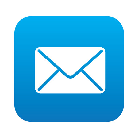 Email icon on blue background,clean vector