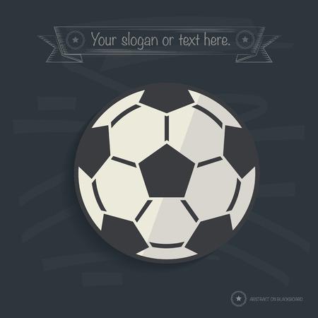 Football design on blackboard background,clean vector