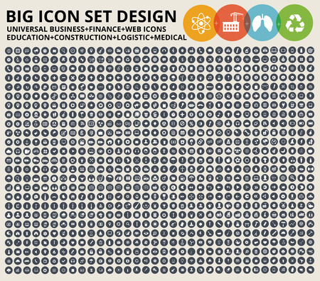 Illustration pour Big Icon set. Universal website,Construction,industry,Business,Medical,healthy and ecology icons - image libre de droit