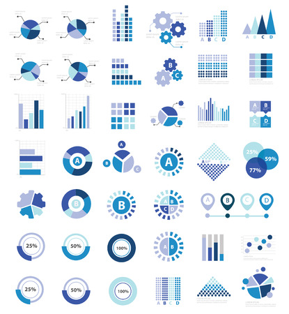 Data analysis for info graphic design icon set,clean vector