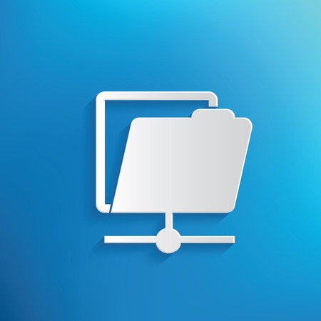Folder symbol design,clean vector