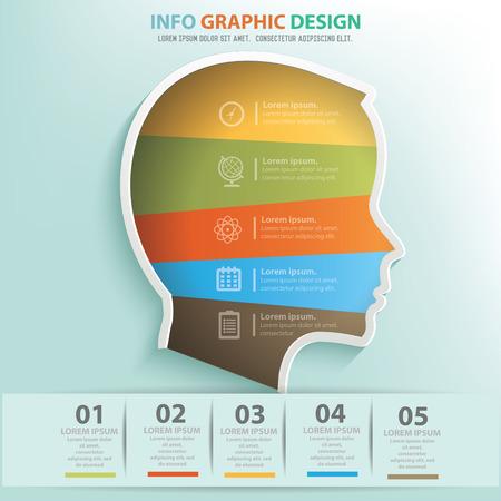 Head info graphic design