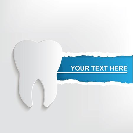 Illustration pour Teeth banner design - image libre de droit