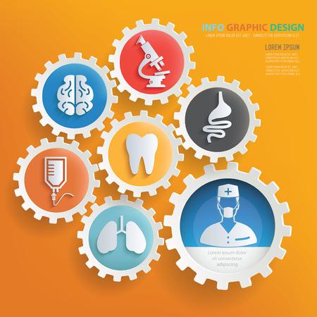 Vektor für Medical and health care infographic design,clean vector - Lizenzfreies Bild