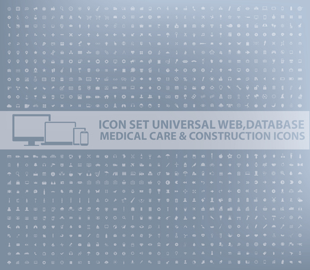 Illustration for Big icon set,business,web,database,medical,construction design,vector - Royalty Free Image