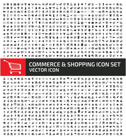 Illustration for Commerce and shopping icon set vector concept  design - Royalty Free Image