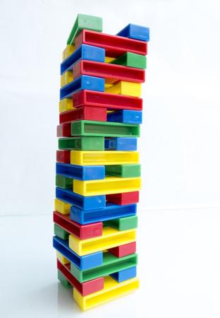 Photo pour Color tower out of blocks, toy - image libre de droit