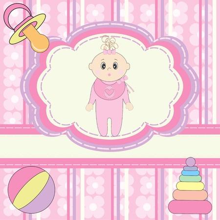 Illustration pour Greeting card for little girl  - image libre de droit