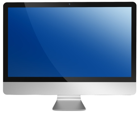 computer isolated with clipping path over white background