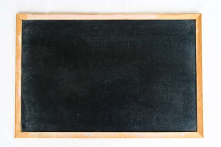 empty blackboard with wooden