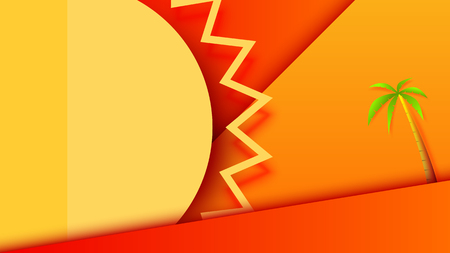 Summer background design with sun and related icons.