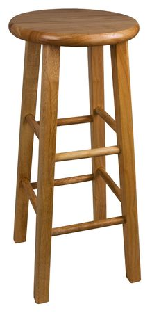Solid Wood Bar Stool In Natural Finish